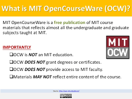 World University and School SlideShare    mit ocw