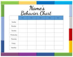 Behavior Chart Template For Word Free Printable Behavior Charts Customize Online