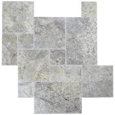 silver brushed chiseled french pattern travertine tiles travertine tiles