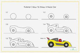 car drawing for kids step by step. How To Draw Race Car With Pictures Drawing Kids Ideas Craft Throughout For Step By