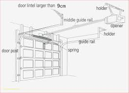 diagram chamberlain garage door opener parts diagram