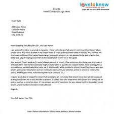 Student Character Reference Letter Examples Of A Character Reference Letter Reference Letter
