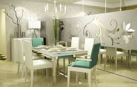 decorating dining room ideas. Air Force Blue Wall Paint With White Line Dining Room Decor Color Combination Decorating Ideas D