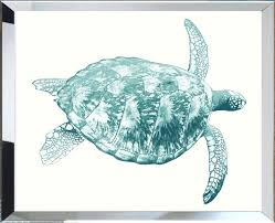 sea turtle wall art framed the well appointed house luxuries for home tropical ocean metal decor