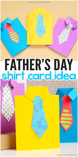 How To Make A Fathers Day Shirt Card Template Included Easy