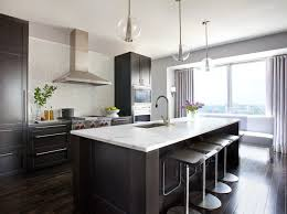 Wonderful Contemporary Kitchens With Dark Cabinets Wood P In Perfect Design