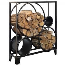 Diese art von kaminholzregalen sind für das heimische wohnzimmer oder die lagerkammer gedacht. Serax Bois De Rond Regal Fur Kaminholz H100cm Schwarz