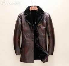 new men s luxury leather trench jacket coat with fur