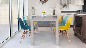 eames chairs and grey gloss 6 seater dining set danetti uk regarding kitchen table with 6 black round