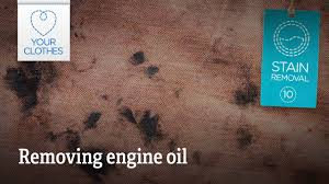 remove engine oil sns from clothes