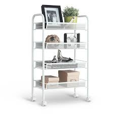 office trolley cart. LANGRIA 4-Tier Metal Mesh Rolling Cart Trolley For Kitchen Pantry Office  Bedroom Bathroom Washroom Office Trolley Cart T