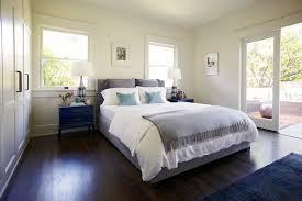 dark hardwood floors bedroom. Fine Floors Gray And Blue Bedroom Inside Dark Hardwood Floors C