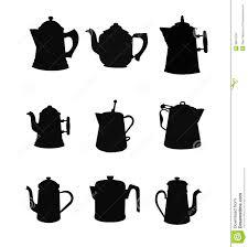 coffee pot silhouette. Wonderful Coffee Vintage Coffee Pots In Silhouette Set Inside Coffee Pot Silhouette T