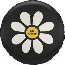 Life Is Good Tire Cover Daisy Jeep Tire Cover Tire Cover Jeep Wrangler Tire Covers