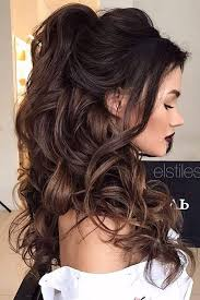 Nice Hairstyle For Curly Hair chic halfup bridesmaid hairstyles for long hair bridesmaid 7650 by stevesalt.us