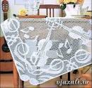 Вязание скатерти крючком филейная сетка 122