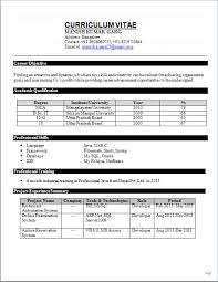 Fresher Job Resume Perfect Resume Format For Fresher Job Search In India