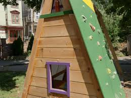 build a bination swing set playhouse and climbing wall how tos kids rock climbing wall for toddler