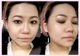 7 hours later and after a gym session the result after no blotting or touching up a little glow on the t zone but our eyeshadow and eyeliner are still in