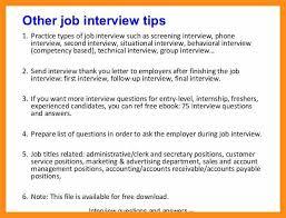 Accounting Interview Tips Rome Fontanacountryinn Com