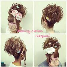 アップスタイル 結婚式 ロング 振袖beauty Salon Nagomi Kanagon