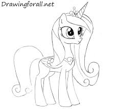 drawn my little pony cadence 2