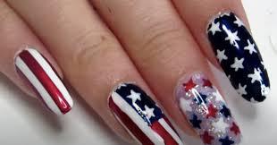 diy easy american flag nail art