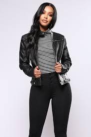 women alexa faux leather jacket black faux leather moto jacket detachable grey hood psigran