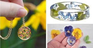 jewelry made from flowers