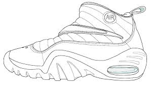 Shoe Printable Template Shoe Outline Template Fondant Baby