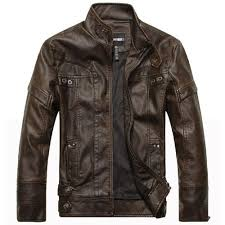 Discount Designer Mens Leather Jackets Aichang Motorcycle Leather Jackets Men Autumn Winter Leather Clothing Men Leather Jackets Male Business Casual Coats