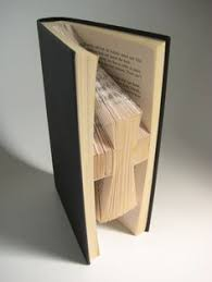 hardback book folded book art holy cross