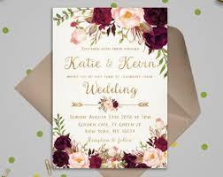 Wedding Cards Template Wedding Invitations Etsy