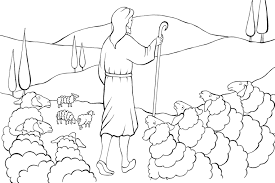 The Lord Is My Shepherd Coloring Eskayalitim