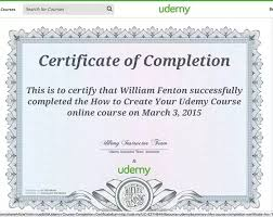 Does Udemy Provide Certificates Upon Completion Of Any Course? - Quora