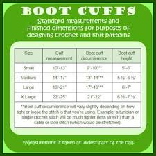 Blood Pressure Cuff Size Chart Crochet Boot Cuff Size Chart Google Search Knitted Boot