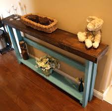 skinny console table. Skinny Sofa Table Unique Dark Walnut Stained Mountain Blue Painted With Inspirations 4 Console
