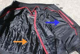 interior of alpinestars t jaws wp jacket