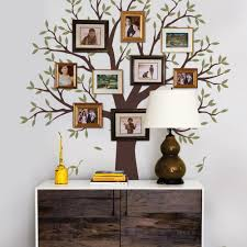 narrow family tree wall decal