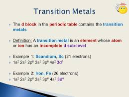 Transition Metals. - ppt video online download