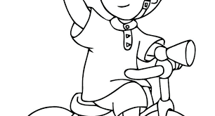 Caillou Printable Coloring Pages At Getdrawingscom Free For