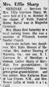 Mrs. Effie Sharp - Obit - Dec 12, 1972 - Newspapers.com