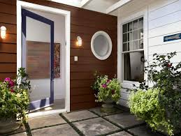 front door entry using fake grass around pavers