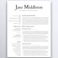 Resume Modern Ex Professional Resume Template 5 Pages Clean Resume Template