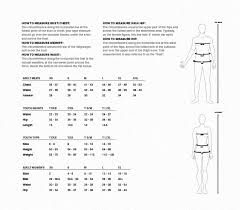 Easton Catchers Gear Size Chart Easton Apparel Sizing Jpg
