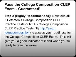college composition clep study guides college composition  83 pass the college composition
