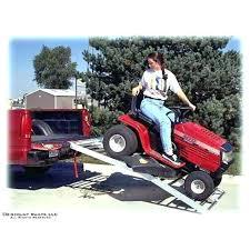 home depot garden tractors lawn mower ramp aluminum humped multi fold garden tractor ramp 7 long