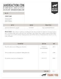 Freelance Quote Template Invoice Example Biz Room Invoice Design Invoice Template Web