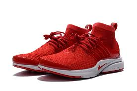 Mens Nike Air Presto Red Shoes