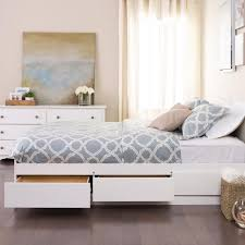 white full storage bed. Winslow White Full/Double Platform Storage Bed Full E